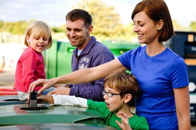 Dispose of hazardous materials in the proper containers or take them to a special recycling center.
