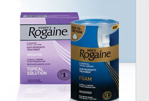 Minoxidil (Rogaine) is a topical medication available over-the-counter (OTC), without a prescription.