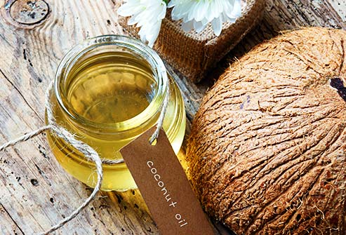 Coconut oil is great for protecting and moisturizing dry, cracked skin.