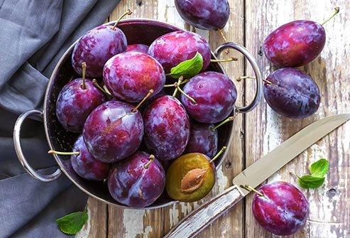 Purple plum skins are packed with antioxidants.