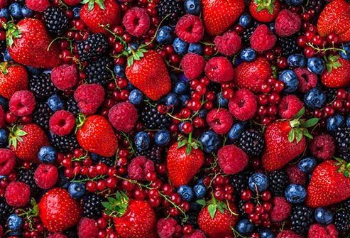Red, purple, and blue berries are good for your brain and mood.