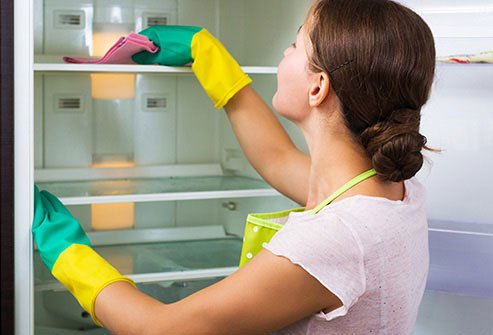 Make sure your fridge is thoroughly cleaned once every three months.