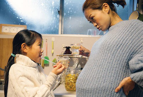 Folic acid supports the growth of a healthy baby.