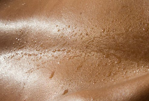 The body cools itself is by sweating, and allowing that sweat or perspiration to evaporate.