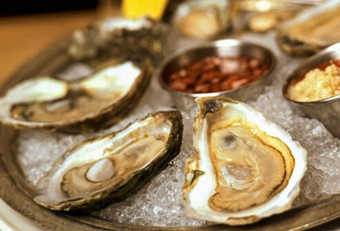 Shellfish grown in polluted water may contain hepatitis A.