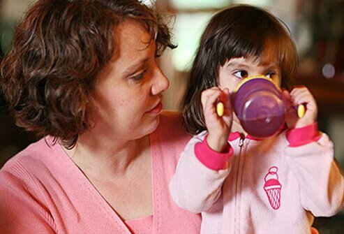 Drink plenty of fluids – it's important your child stays hydrated.