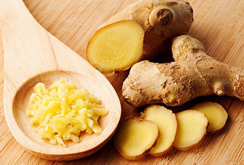 Ginger may help relieve nausea and vomiting.