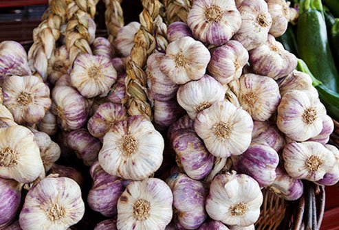 Garlic may help protect against cancer.