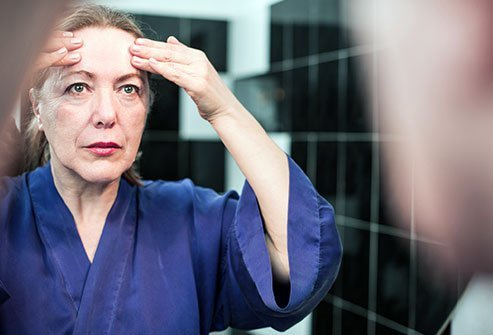 Decreased levels of estrogen in perimenopause and menopause are associated with skin aging.