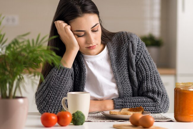 Grief can lead you to stop eating on a regular schedule or to binge eat.