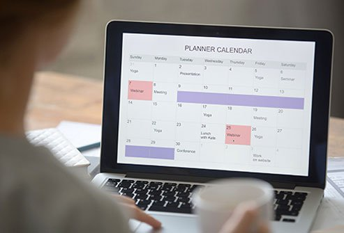 Have a schedule to stay on track with time management.