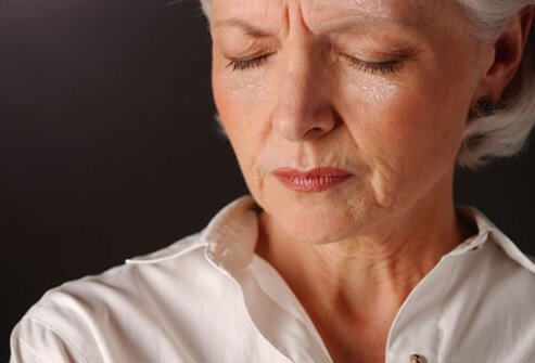 One symptom of menopause is excessive perspiration.