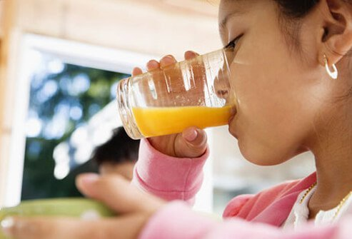 Most children love juice, but don't give them too much.