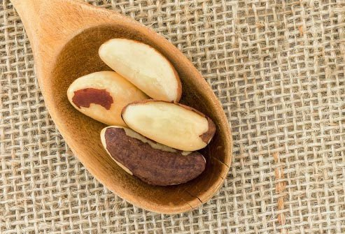 Brazil nuts are very high in the mineral, selenium.