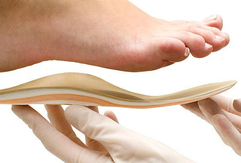 Choose shoes that support your arches, or get slip-in inserts at your local drugstore.