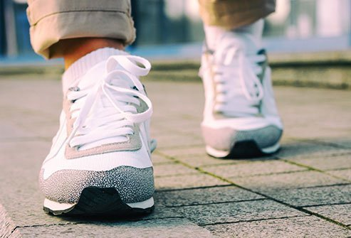 Wear shoes with good tread on them to cut your risk of a slip.
