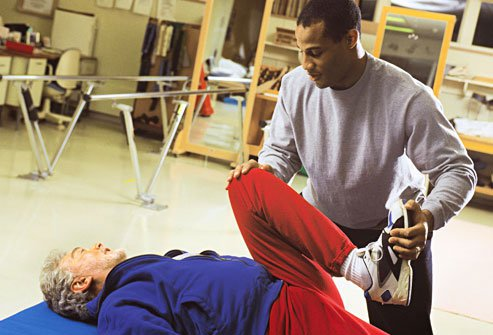 Physical therapy for knee replacement includes exercises for flexibility and strength.