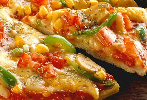 Healthy vegetarian pizza.