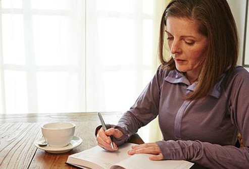 Keep a diary to track hot flash triggers to manage menopause symptoms more easily.