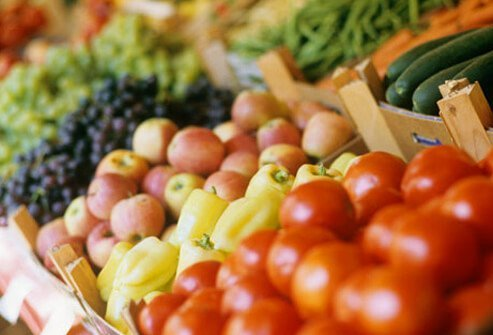 Produce at the grocery store, healthy choices for menopause.