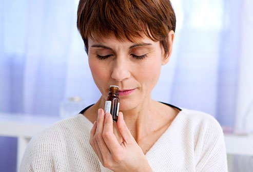 If someone's perfume or other odors set off your migraine, reach for a soothing scent like mint or coffee beans.
