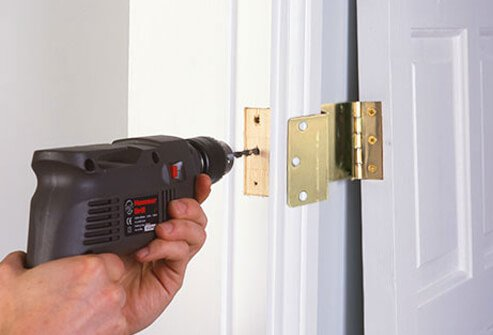 Expandable door hinges provide a few extra inches of clearance for doorways.