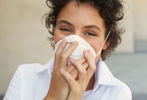 Minimize allergy nasal symptoms by wearing a mask while cleaning.