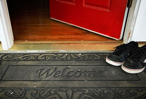 Photo of rubber welcome mat.