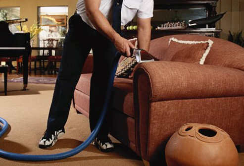 Photo of an upholstery steam cleaner.