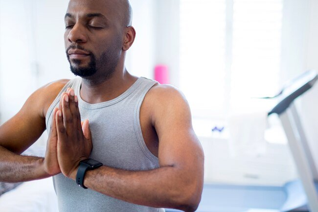 When you're stressed, all the muscles in your body tense up, including the ones in your chest.