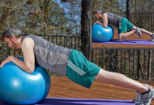 Try this advanced move only after mastering the traditional plank.
