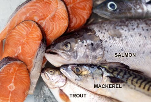 An assortment of omega-3 rich fish.