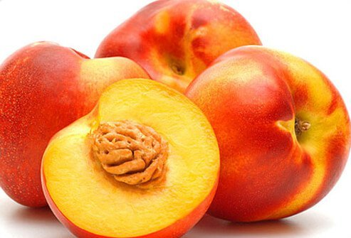 If you don't plan to peel your nectarine, be sure to wash it to remove any germs or pesticides.