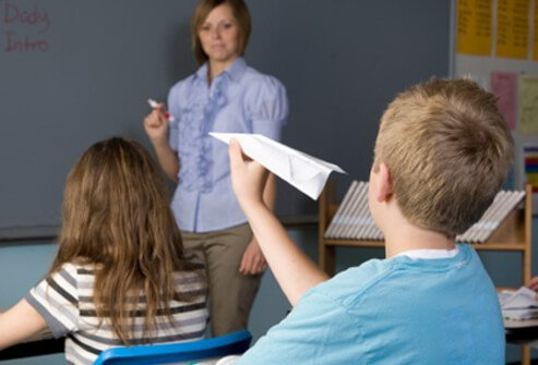 ADHD symptoms in children are commonly noticed in the classroom.