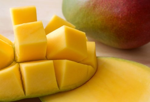 Mangos are high in carotenoids, which have antioxidant activities.
