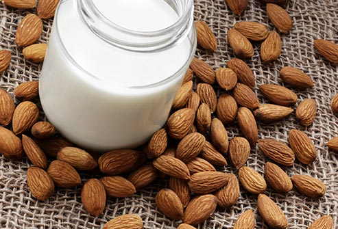 Almond milk adds nutty flavor and a bit of sweetness to smoothies.