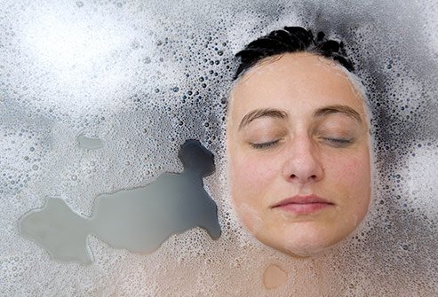 Taking a soothing bath has been known to relieve pain.