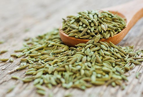Researchers believe fennel inhibits uterine contractions that are stimulated by prostaglandins.
