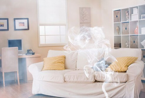 Photo of fogger inside house.