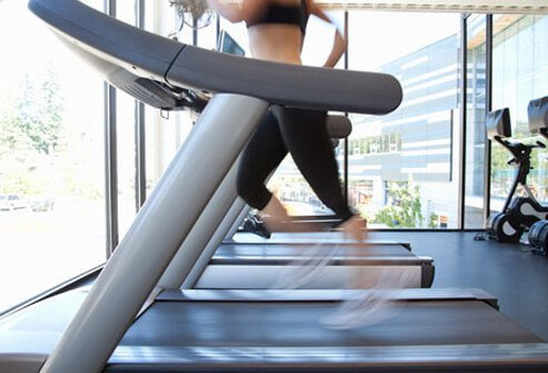 Photo of woman on treadmill.