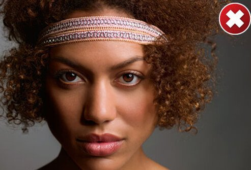 If your pimples are only on your forehead, you might be tempted to hide them under a tight-fitting cap or headband.