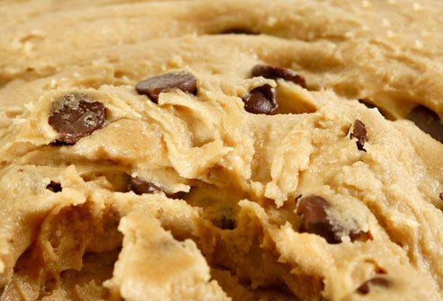 It can be tempting to have a taste of batter when you make cookies, but anything with uncooked flour can make you sick.