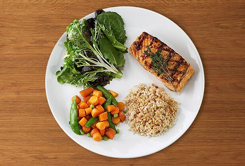 Eating excess fat and carbohydrates may help you gain weight around your midsection.