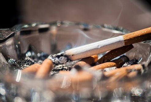 Smoking increases the risk of accumulating fat around your middle.
