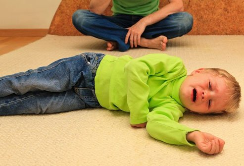 It may be hard for kids to breath when they cry or get scared.