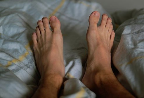 It often starts in the feet, with pain that stabs, burns, or itches.