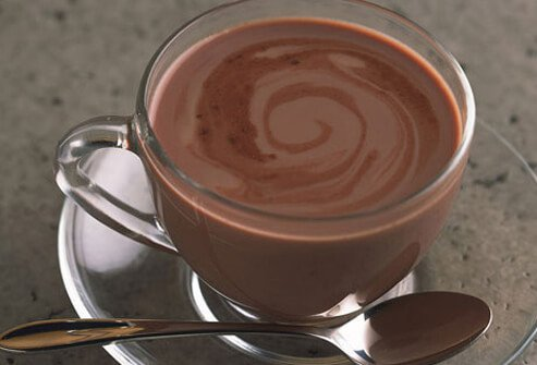 A cup of hot cocoa.