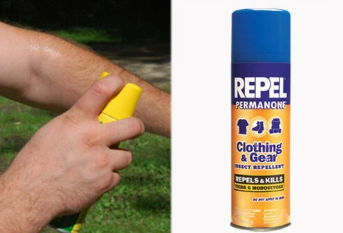 Apply repellents to discourage tick attachment.