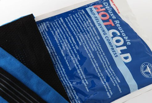 Photo of hot and cold compress for pain relief.