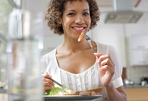 Downsizing portions to healthier sizes allows your body to become accustomed to the correct portion size.